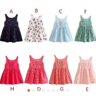 Sweet Girls Dress Sleeveless Elegant Dress