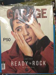 Garage magazine - James Reid cover