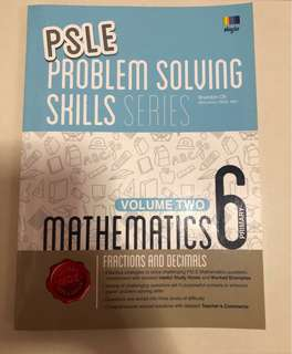 PSLE Maths Assessment book selling at S$3