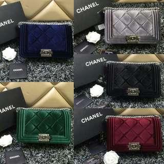 Chanel Boy Velvet