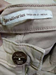 Long pants cream stradivarius