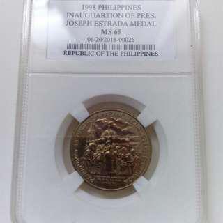 Pres. Estrada 1998 Medal