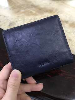 Fossil Emma Blue Leather Wallet