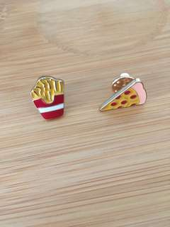 Pizza and Fries pins
