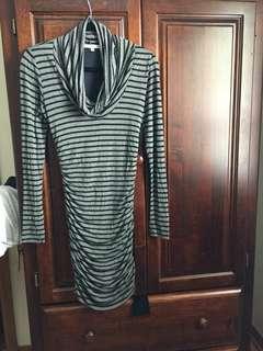 Grey Striped New Bodycon