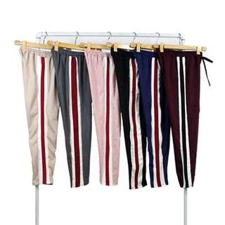 Tri Color Combination Track Pants