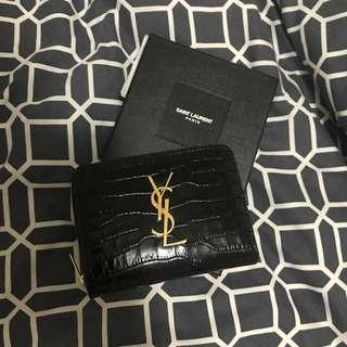 YSL Croc Embossed Wallet