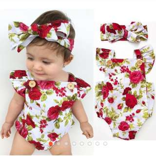 Newborn Infant Toddler Baby Girls Clothes Flower
