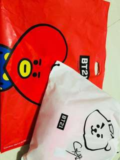BT21 Cooky cushion 30cm 連Ta Ta 膠袋