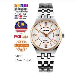 SKMEI 1133 Ori Lady Women Watch Jam Tangan Wanita Design Like Casio Fossil