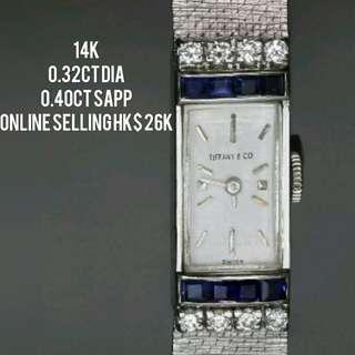 古董鑽石錶參考 vintage diamond watch referencd