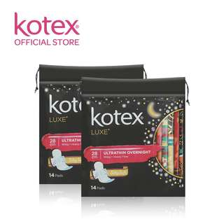 Kotex Luxe Sanitary Pads Ultrathin Overnight