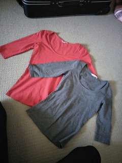 Supre tops red small/grey xs