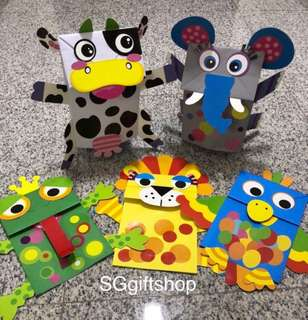 Fun puppets for children party games, goodies bag, goody bag packages