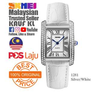 SKMEI 1281 Ori Lady Women Watch Jam Tangan Perempuan Design Like Casio Fossil