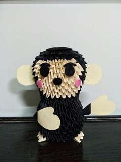 3D Origami Handmade Monkey