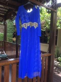 New! Royal Blue Anarkali