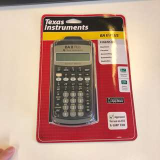 Texas Instruments BA ii Plus Financial Calculator 金融計算機 cfa frm