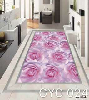 Modern 3D Mural Floor Wallpaper Self Adhesive