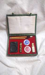 Vintage Chinese Calligraphy Writing Set in Presentation Box