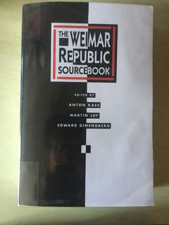 The Weimar Republic Sourcebook