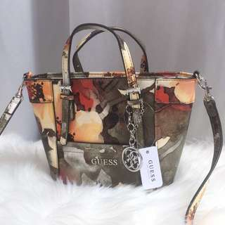 Authentic Guess Floral Delaney Mini Crossbody Bag
