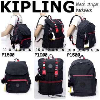 KIPLING RED AND BLACK BACKPACK🎒