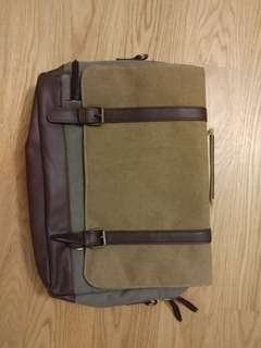 Canvas Leather Feel Laptop Bag