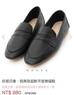 D+af 經典款平底樂福鞋 黑24