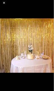 party curtain party backdrop