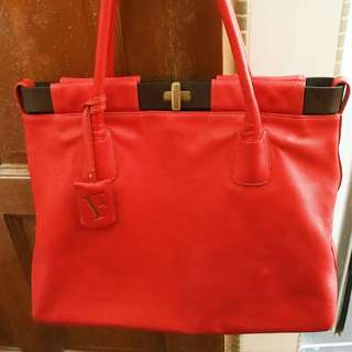 OPEN SWAP! AUTHENTIC FURLA LEATHER TOTE BAG