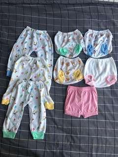 3 BN Baby Long Pants & 5 Shorts