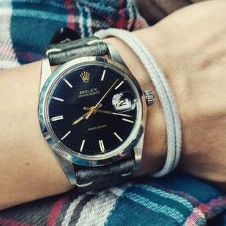 Vintage Rolex ref. 6694 with black original dial (rare in the market with real original black dial)