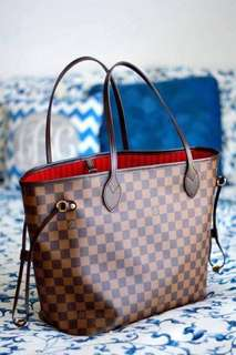 LV Neverfull with pouch *Authentic Quality