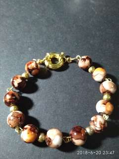 Tiger's eye chakra stone bracelet