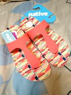 🚚 全新 正品 吊牌未拆  Native 拖鞋 海灘拖鞋  適合 23.5-24號 37-38號
