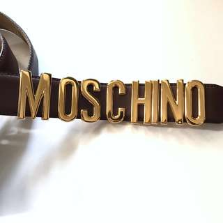 Moschino belt logo bag wallet clutch purse Gucci Chanel Louis Vuitton LV Bally Hermes