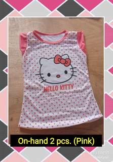 Re-priced Hello Kitty Cotton Shirt for 3-6 years old