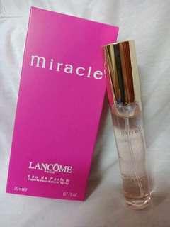 MIRACLE LANCÔME 20 ml, Singapore tester travel perfume