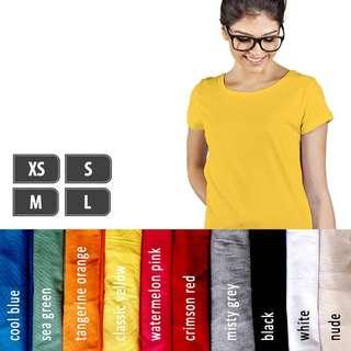 Kaos Polos Lengan Pendek Soft Combed XS S M L