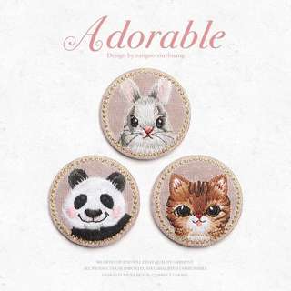 Embroidery Panda Bunny Cloth Cute Child Clothes diy Fashion Patch Trumpet Repair Hole