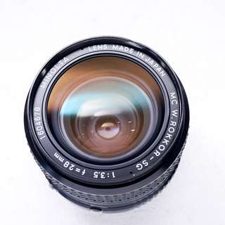 Minolta 28mm f3.5 MD manual focus lens