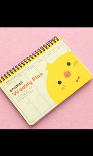 Weekly Planner Little Cute Yellow Chick