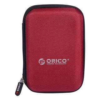 ORICO Portable Nylon 2.5 Inch Hard Disk Drive Protective Carrying Zip Case Hard Shell Red