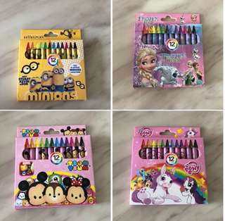 Cartoon crayon- kids party goody bag, goodies bag gift