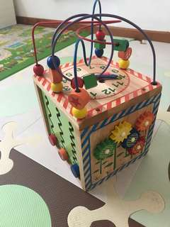 Wooden toy Activity Cube
