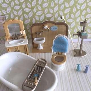 Sylvanian Families bathroom