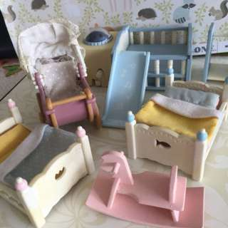 Sylvanian Families baby and child room