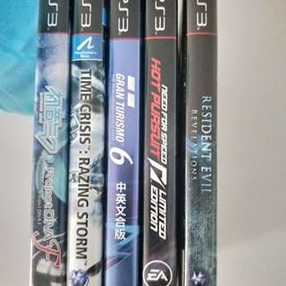 PS3 Games Miku Time Crisis Razing Storm Need for Speed Hot Pursuit Resident Evil 5 Gold Edition