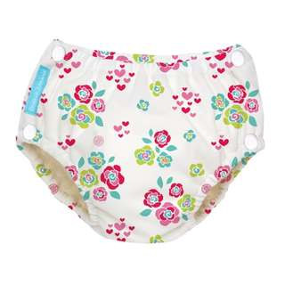 NEW Charlie Banana 2-In-1 Swim Diapers & Training Pants With Snaps (Floralie)